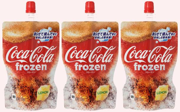 Coca-Cola frozen squeeze pouches introduced in Japan