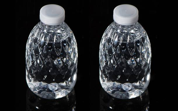 Krones unveils 200ml droplet-shaped bottle for use on airlines
