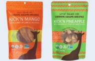 Laughing Giraffe Organics debuts Kick'n spiced and dried fruit