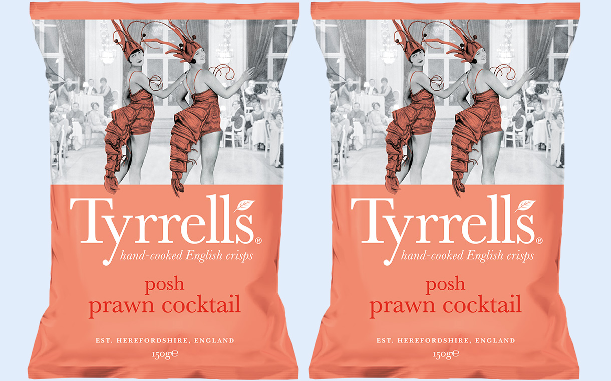 Tyrrells unveils prawn cocktail crisps flavoured with brandy