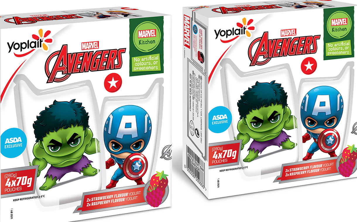 Yoplait launches line of licenced yogurt pouches for children