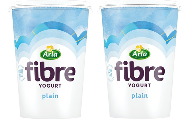 Arla boosts its Fibre yogurt line with addition of plain variant