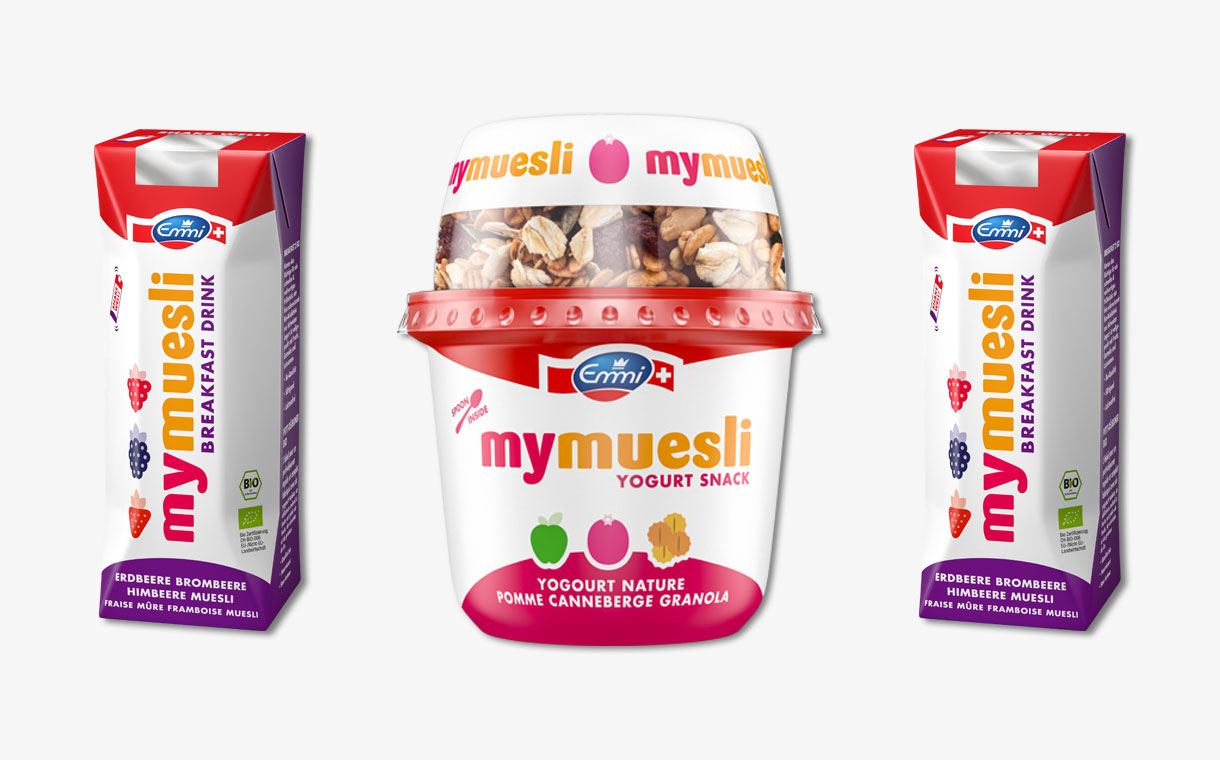 Emmi and mymuesli partner to create four new products