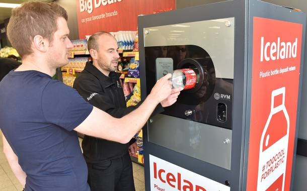 1m bottles recycled through Iceland reverse vending machines