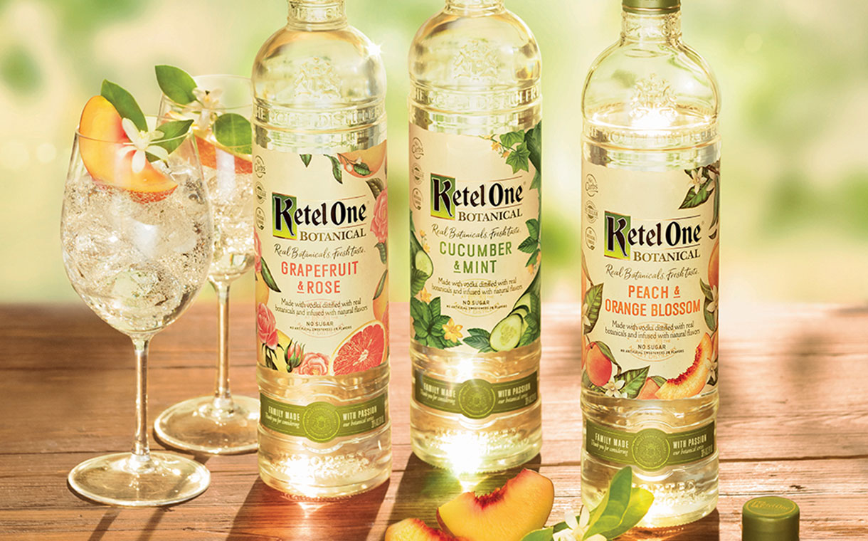 Diageo-affiliated Ketel One releases botanical vodka range