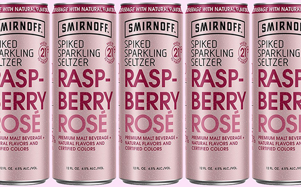 Smirnoff adds raspberry rosé flavour to its spiked seltzer line