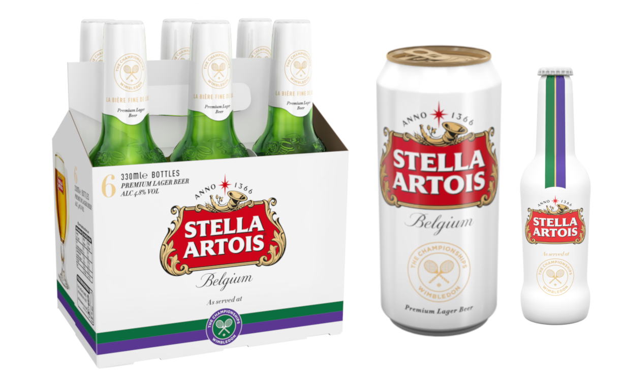 Stella Artois creates limited-edition packaging for Wimbledon