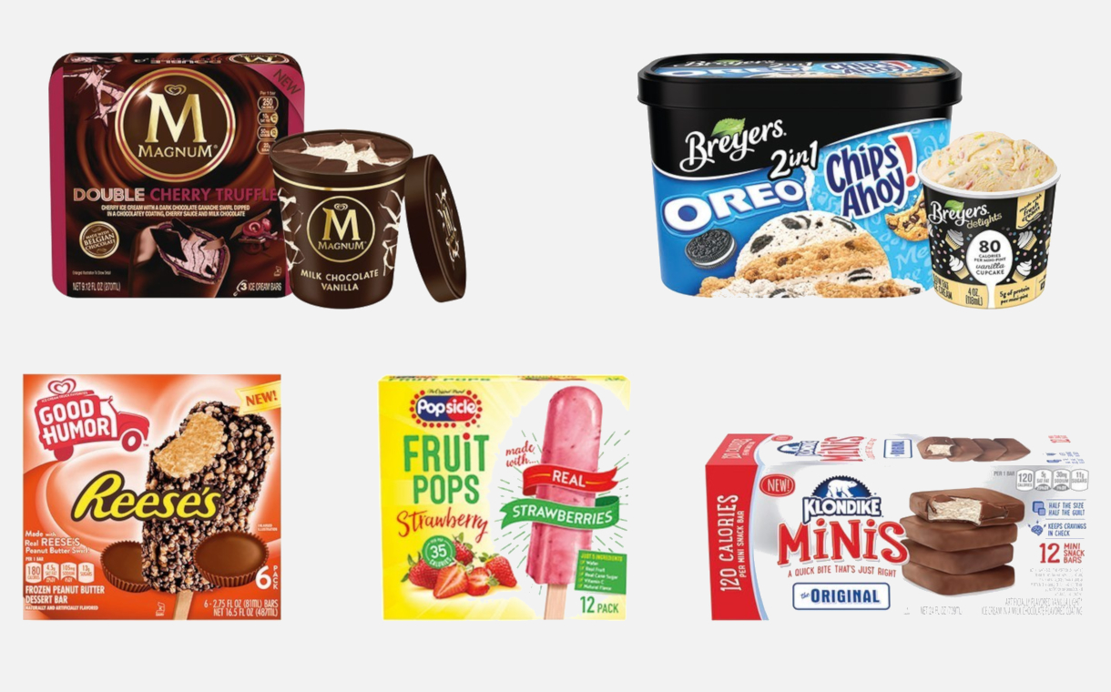 Unilever brands introduce several new ice cream products
