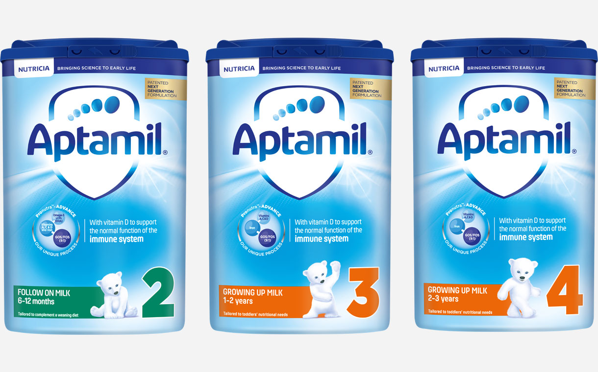 Danone's Aptamil brand unveils new infant formulas