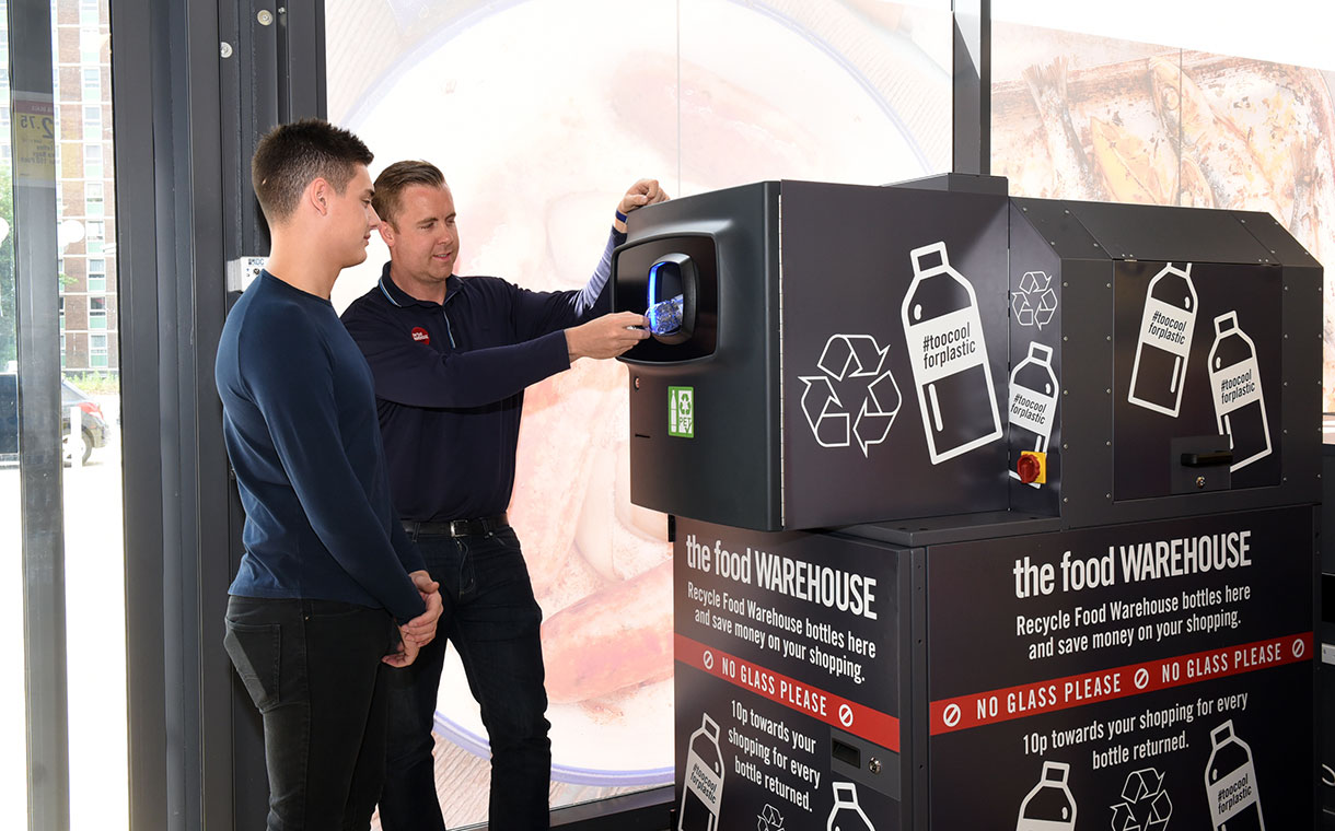 Iceland extends reverse vending machine trial in the UK