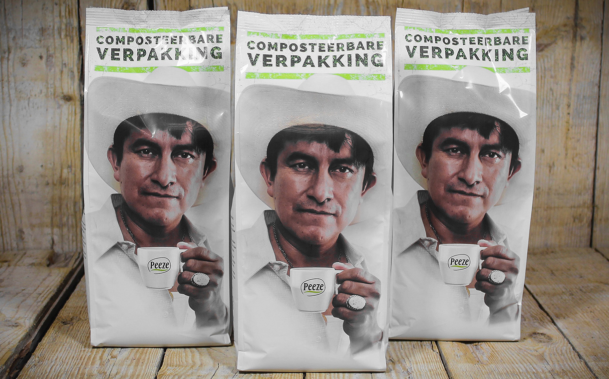 Tipa develops compostable  packaging for Peeze's coffee
