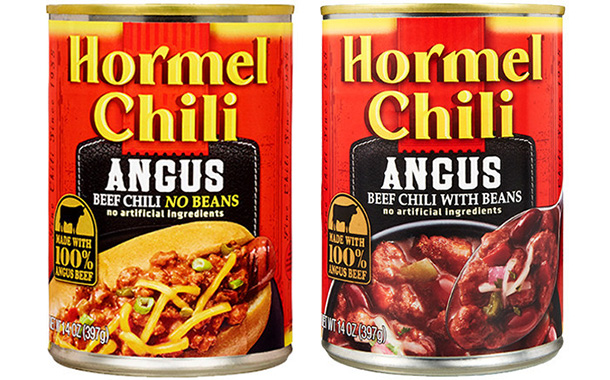 Hormel Foods launches new chili created with 100% Angus beef