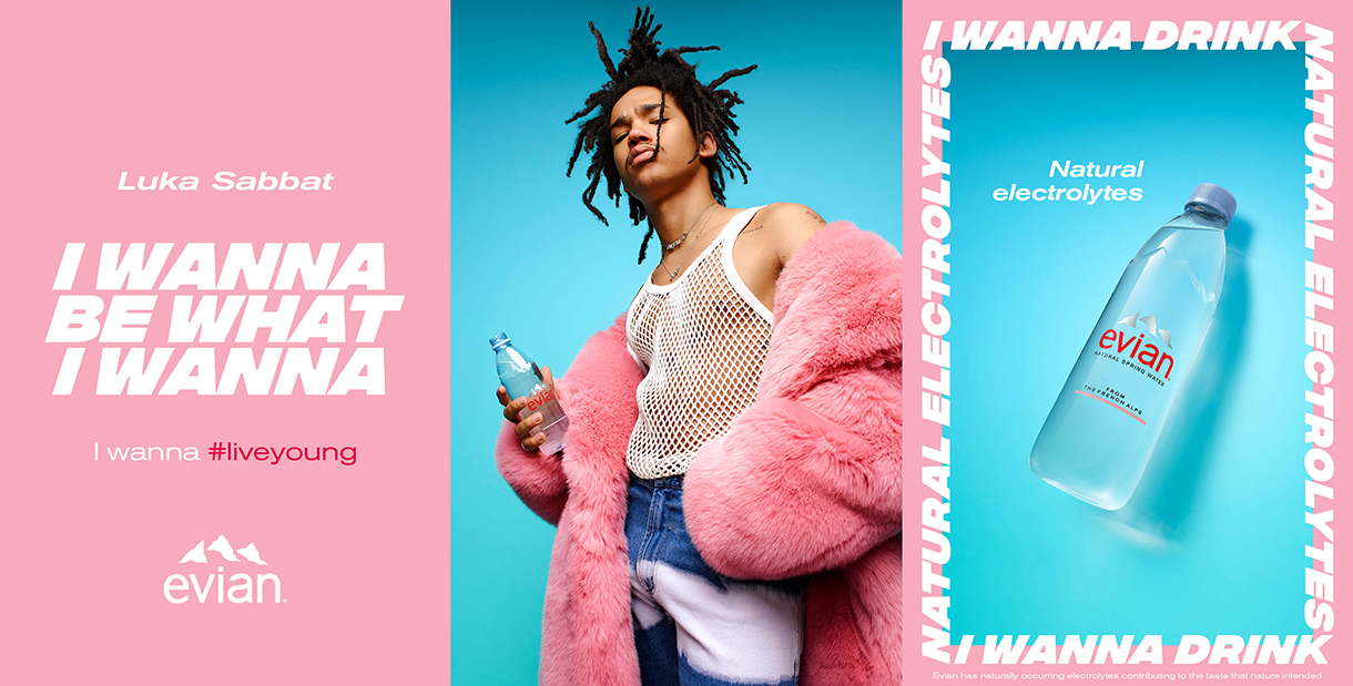 Evian's new advert campaign re-envisions 'live young' slogan