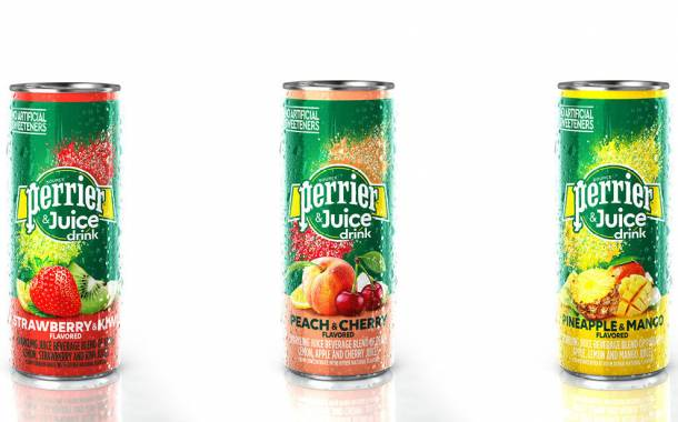 Nestlé Waters unveils Perrier & Juice line mixed with fruit juices