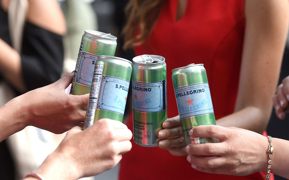nestlé launches s pellegrino water in sleek modern cans foodbev