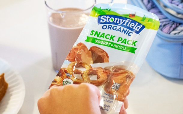 Stonyfield Organic unveils new yogurt snack pot range