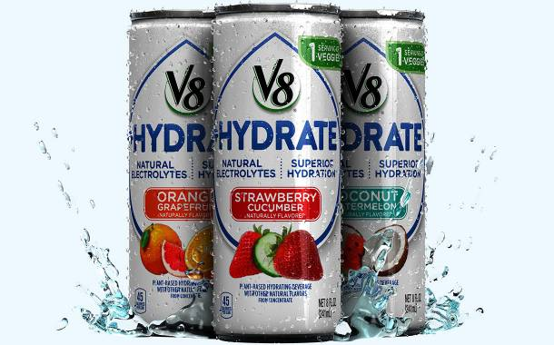 Campbell's launches V8+Hydrate beverage with sweet potato juice