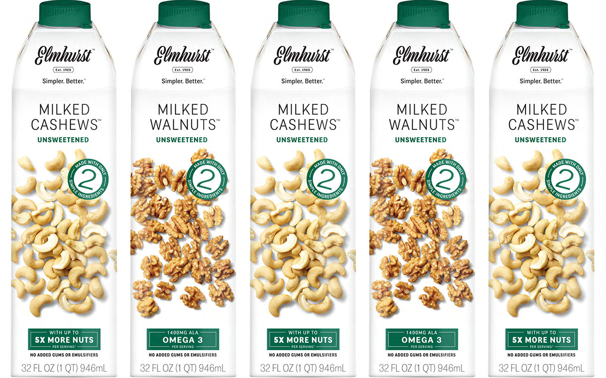 Elmhurst 1925 unveils nut milks made with only two ingredients