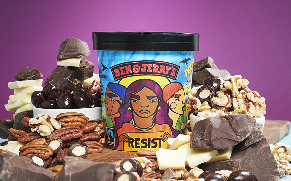 Ben & Jerry's unveils anti-Trump ice cream called Pecan Resist