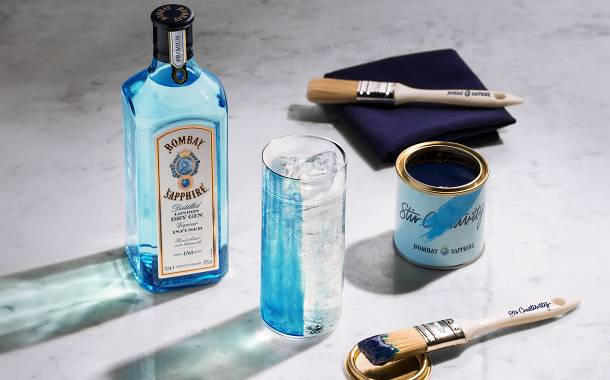 Bombay Sapphire unveils edible paint for use in gin and tonics