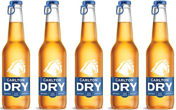 Carlton Dry beer given updated packaging with smaller bottles