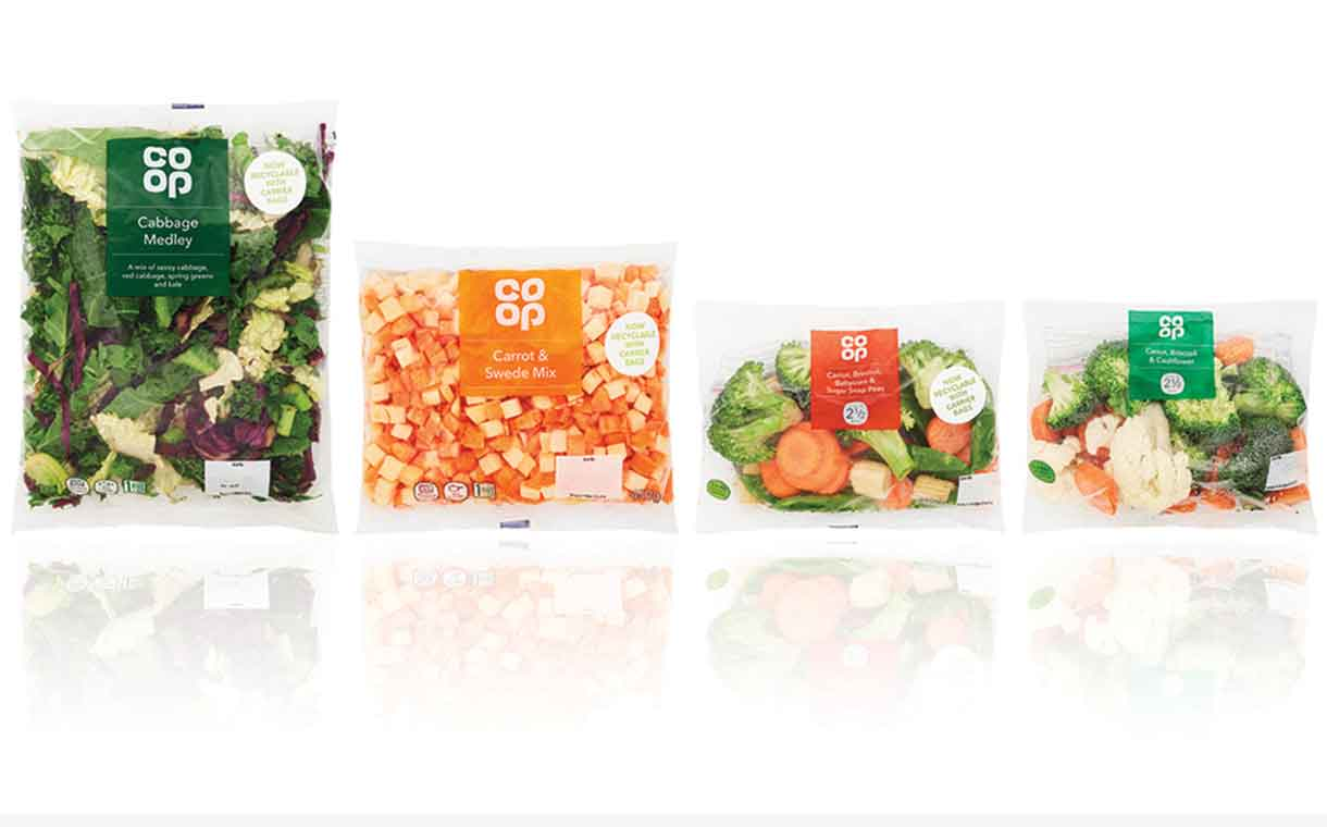 Coveris creates fully-recyclable PE film for the Co-op
