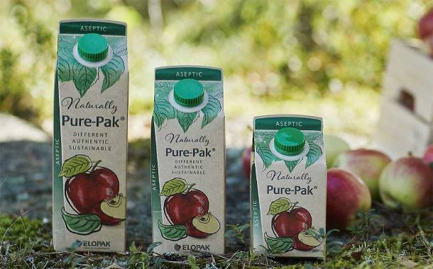 Elopak launches 100% recyclable natural brown board carton line