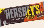 Hershey's chocolate bar with Reese's Pieces candy launched
