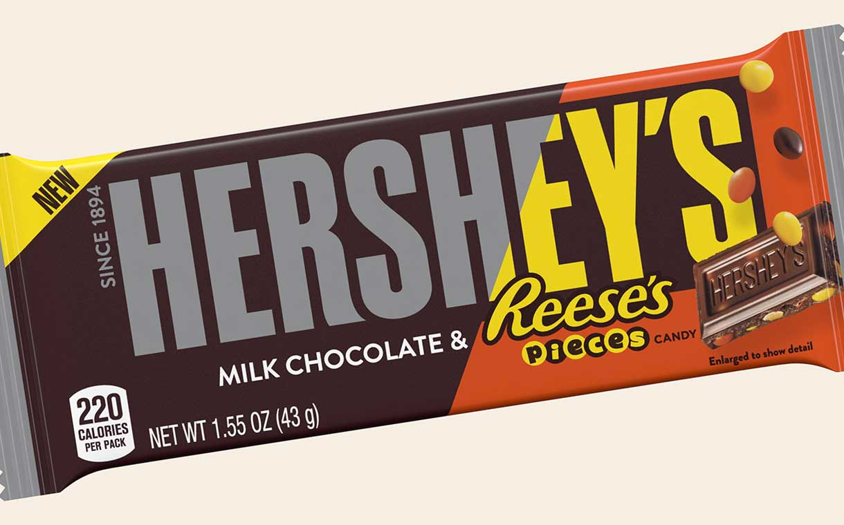 Hersheys Chocolate Bar With Reeses Pieces Candy Launched Foodbev