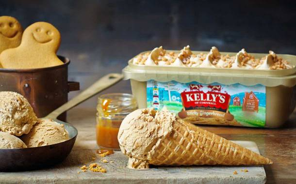 Kelly's of Cornwall introduces sticky gingerbread ice cream