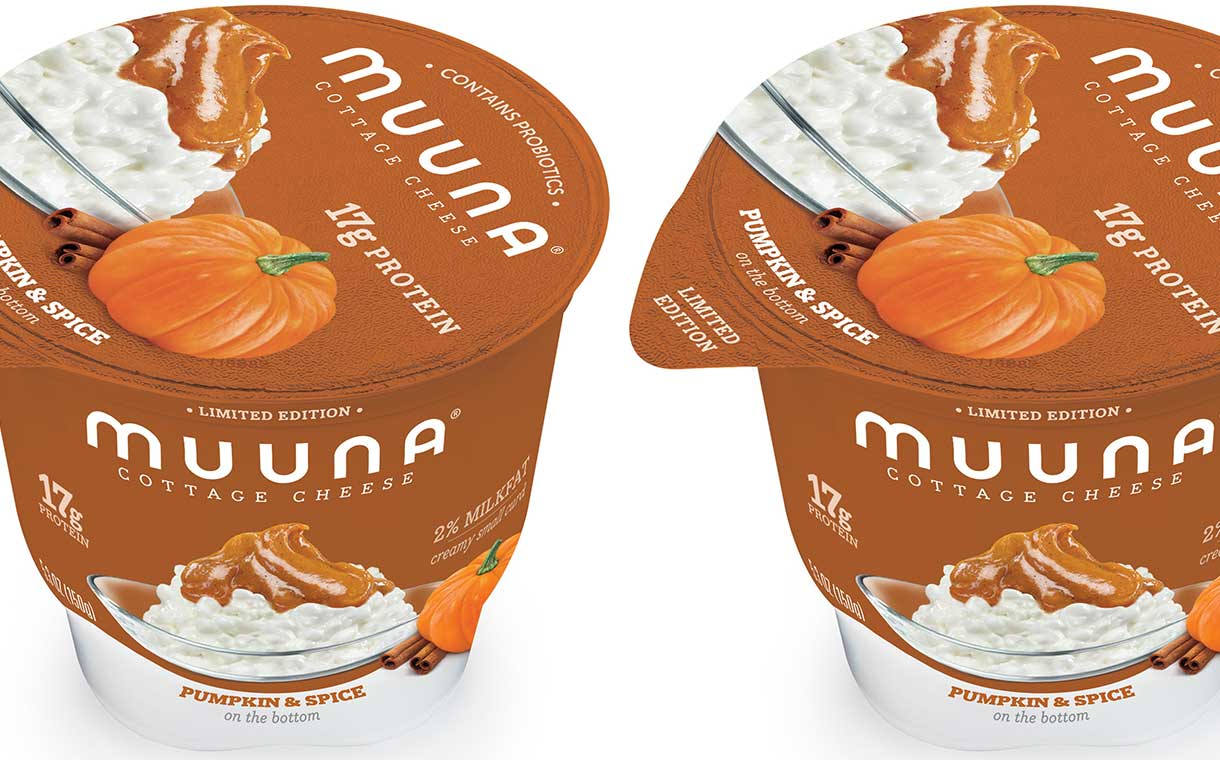 Muuna launches pumpkin and spice cottage cheese flavour