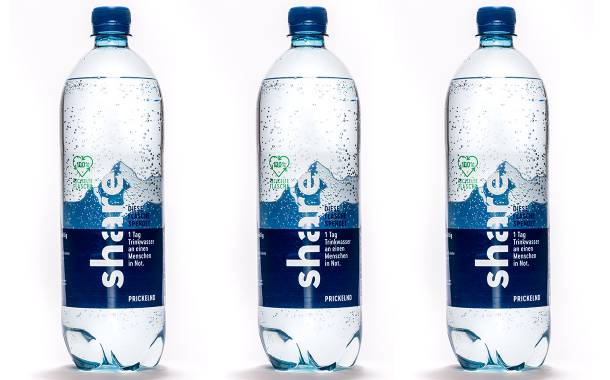 KHS designs 100% rPET water bottle for German firm Share