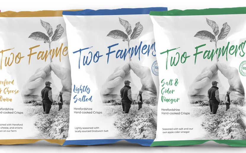 Two Farmers crisp line launches with 100% compostable packet
