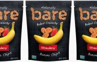 Bare Snacks releases new banana and strawberry fruit chips