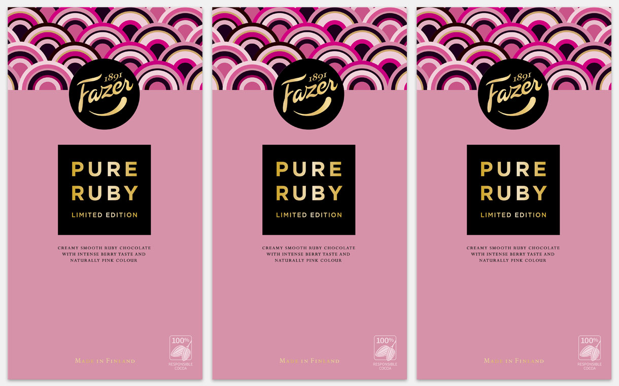 Fazer Group to introduce limited-edition ruby chocolate bar