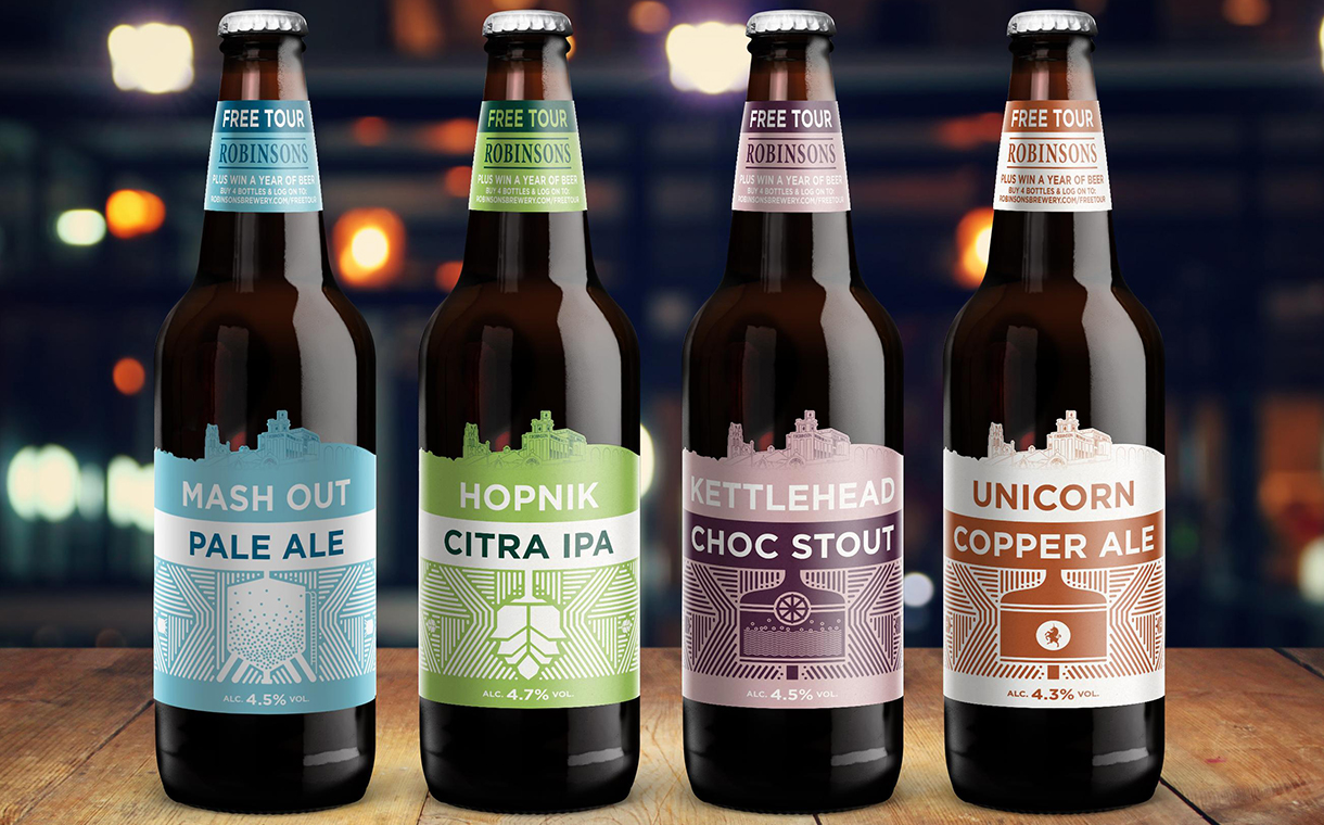 Robinsons Brewery beer given new look by The Label Makers