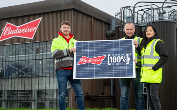 AB InBev to make Budweiser in the UK using renewable energy