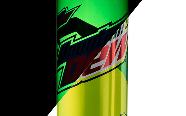 Crown creates glow-in-the-dark cans for Mountain Dew
