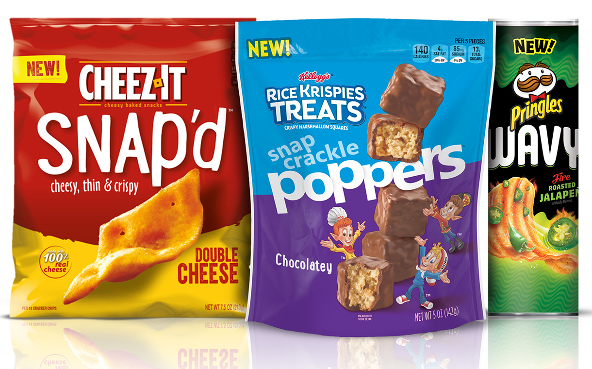 kellogg's introduces new cheez-it and rice krispies treats snacks