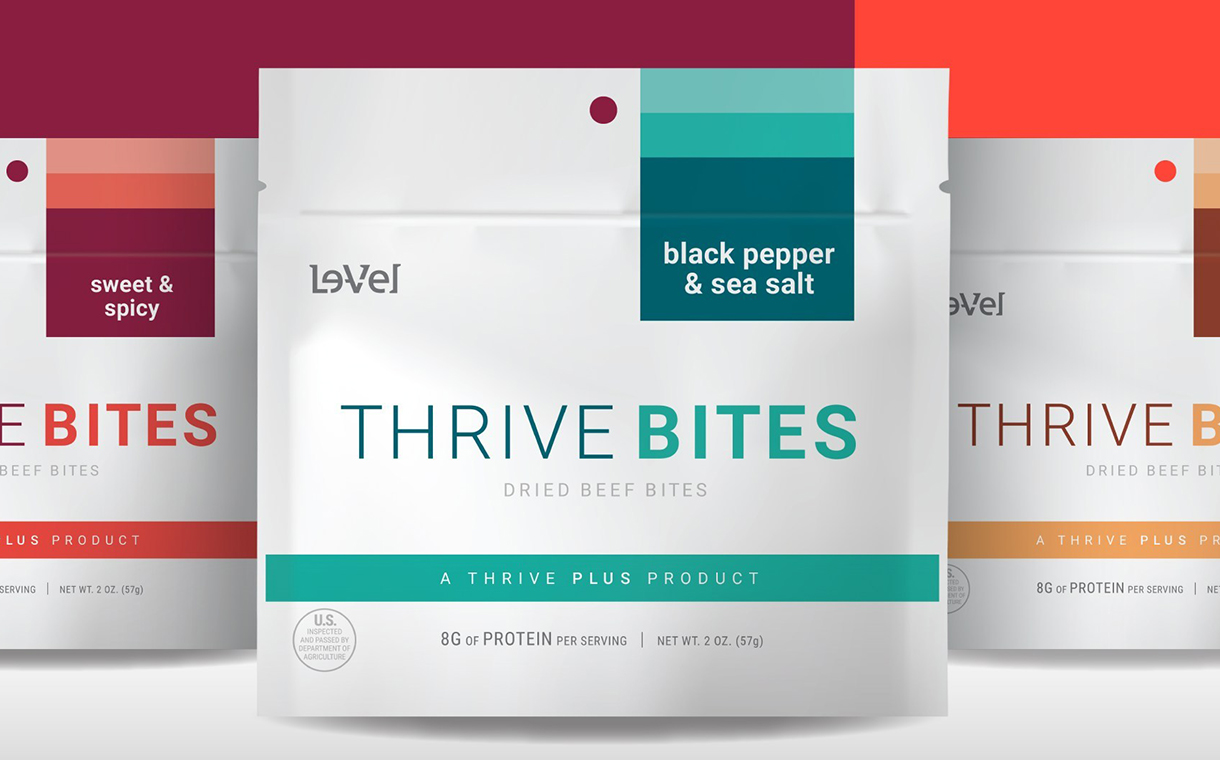 Le-Vel introduces line of Thrive Bites single-serve beef snacks