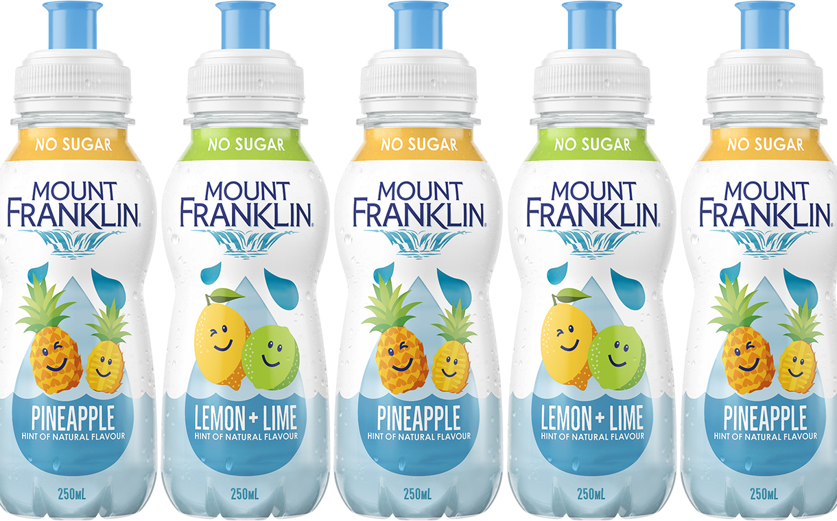 Coca-Cola Amatil unveils Mount Franklin Kids flavoured water line