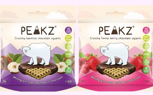Peakz adds three new flavours to range of vegan chocolate snacks