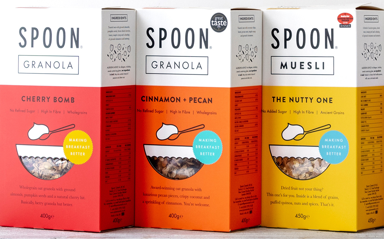Spoon Cereals gives its granola and muesli range new packaging