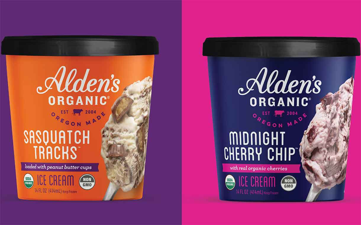 Alden's Organic introduces eight new ice cream flavours in the US