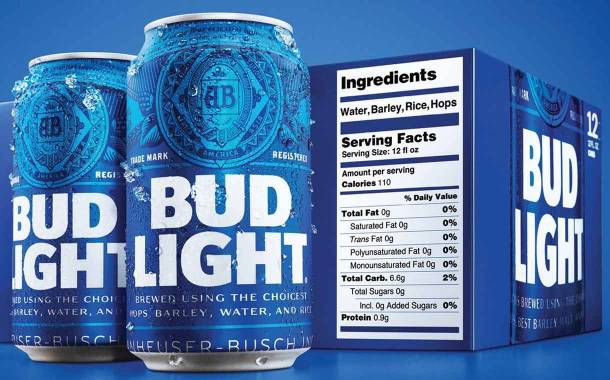 AB InBev adds on-pack nutrition labels to Bud Light beer in the US