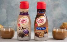 Nestlé boosts Coffee-Mate line with Snickers and Dove creamers