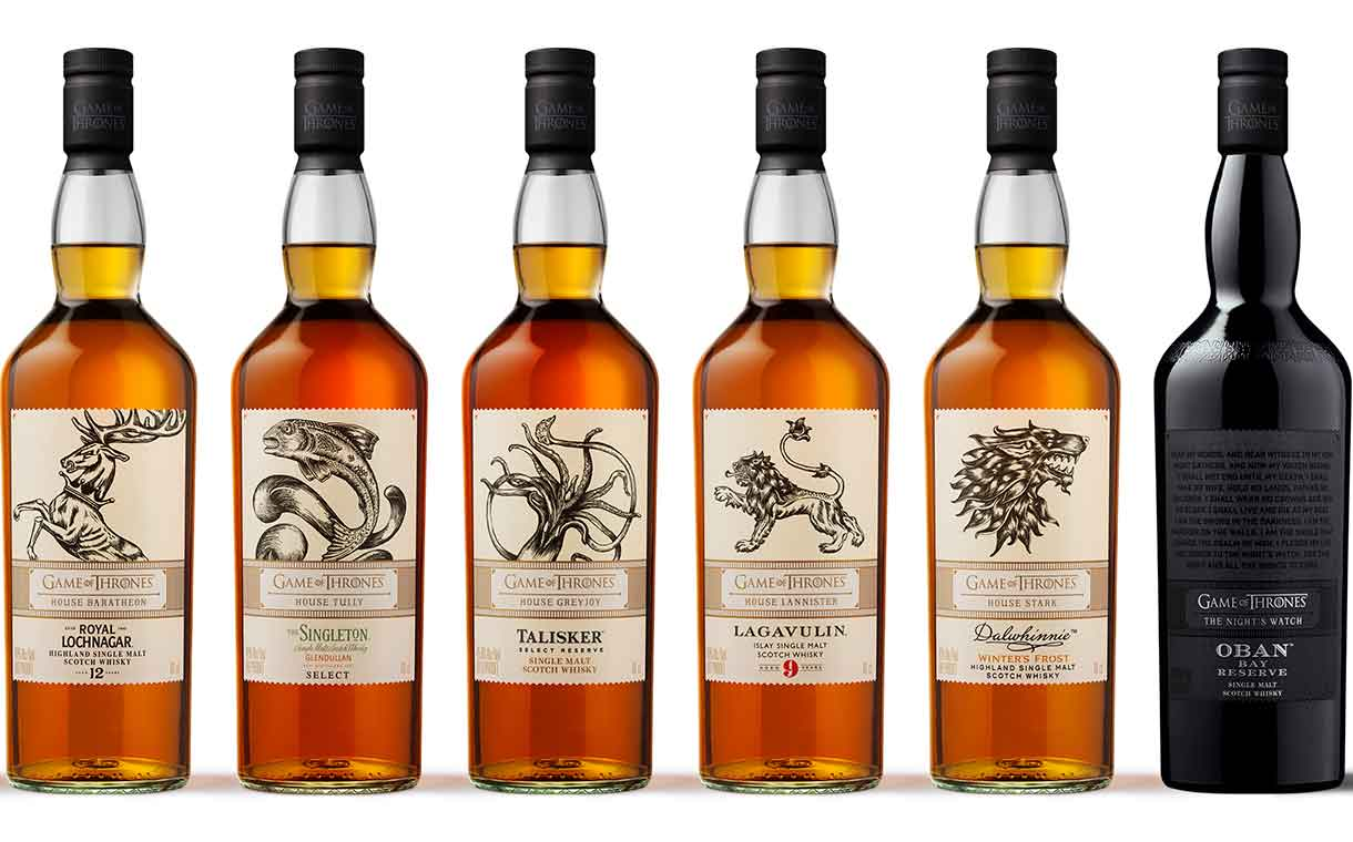 Diageo introduces eight Game of Thrones-themed Scotch whiskies