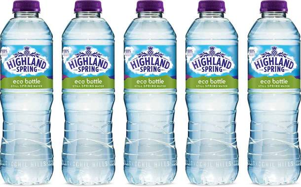 Highland Spring extends use of 100% recycled bottles in the UK