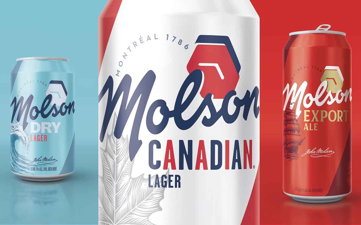 Molson Coors unveils fresh new look for Molson beer in Canada