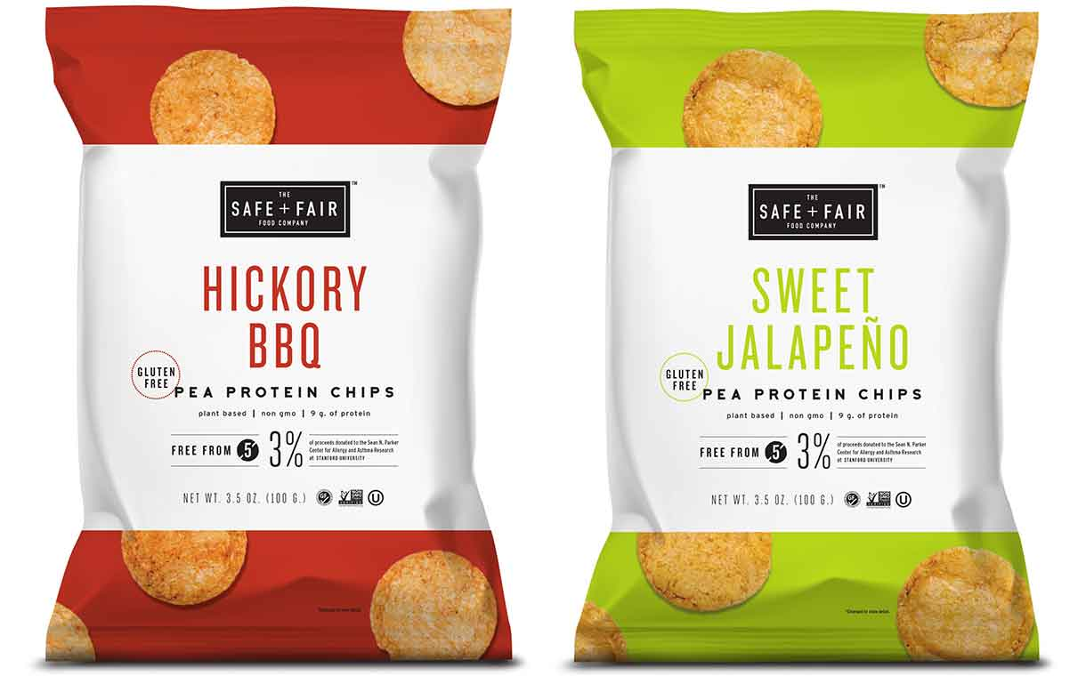 The Safe + Fair Food Company unveils line of pea protein chips